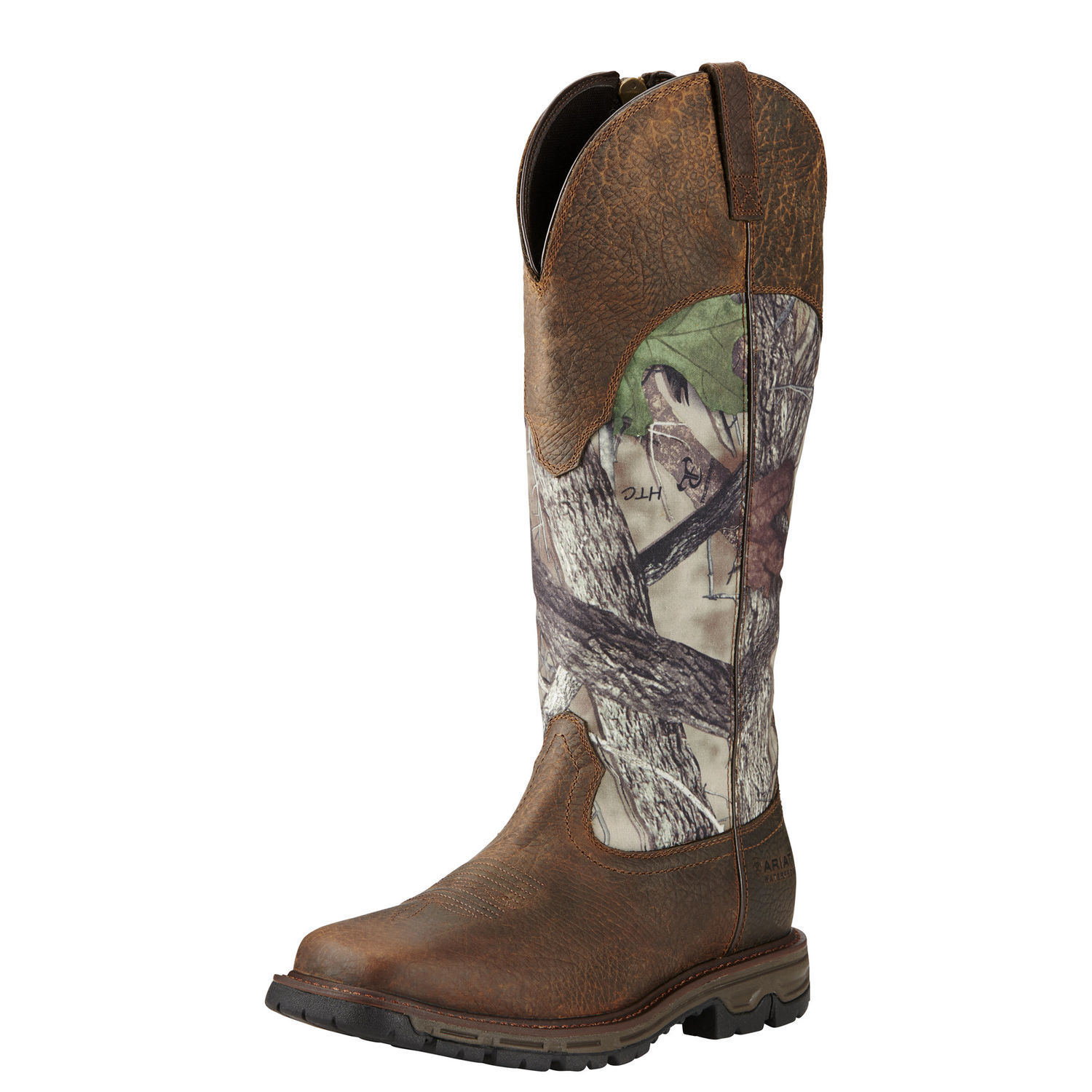 Ariat Conquest WST Snake Boot H20 Men  Square Toe Leather...