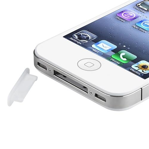 Insten 3x Clear Soft Plug Dock Anti Dust Cap Cover For iPhone 4 4S 3G 3GS Gen