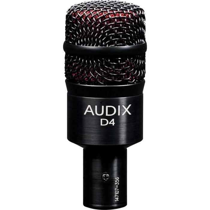 Audix D4 Dynamic Microphone, Hyper-Cardioid by Audix