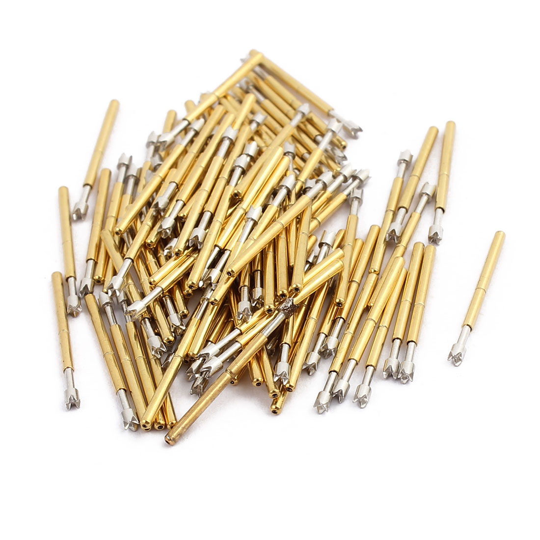 100pcs P75-Q2 1.0mm Dia 16.5mm Length Metal Spring Pressure Test Probe Needle