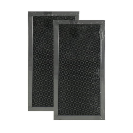 2 Pack 4358792 Whirlpool Microwave Hood Charcoal Filter Set By Air Filter Fac