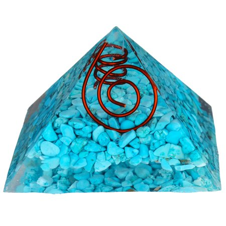 Mrosaa Energy Generator Crystal Tourmaline Orgone Pyramid for EMF Protection Chakra Healing Meditation with Crystal and Copper 3