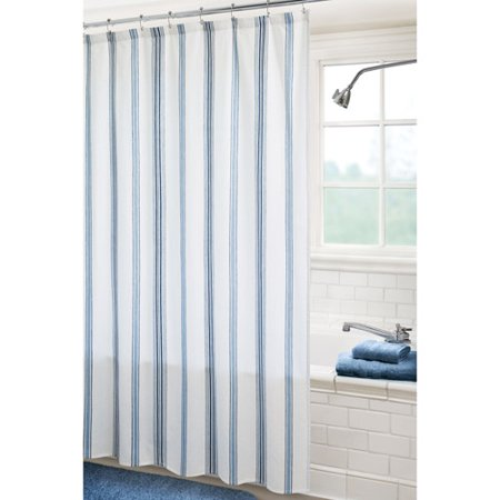 Canopy Fresh Stripe Shower Curtain Indigo Blue And French Blue