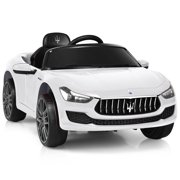 Gymax 12V Maserati Licensed Kids Ride on Car w/ RC Remote Control Led Lights MP3