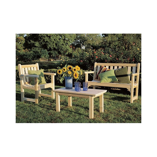 Bundle-61 Rustic Cedar English Lounge Seating Group (6 Pieces)