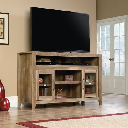 "Sauder Stone Valley Entertainment Credenza for TVs up to 60"", Craftsman Oak Finish"