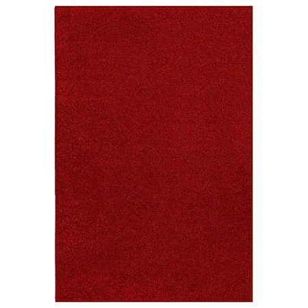 Currant Red Area Rug (Home Queen Solid Color Area Rugs Red - 2'x6' )