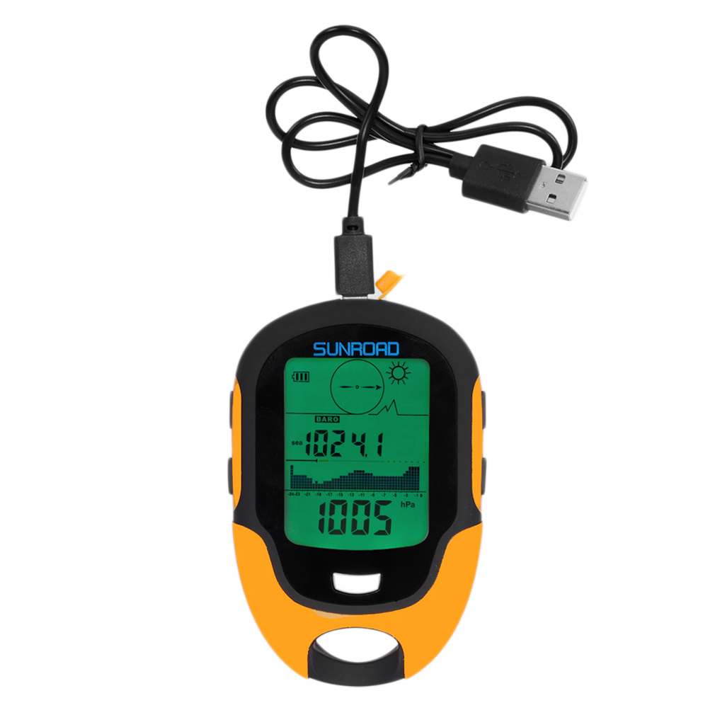 Multifunctional FR500 Portable Digital Altimeter Outdoor Use Barometer Device by