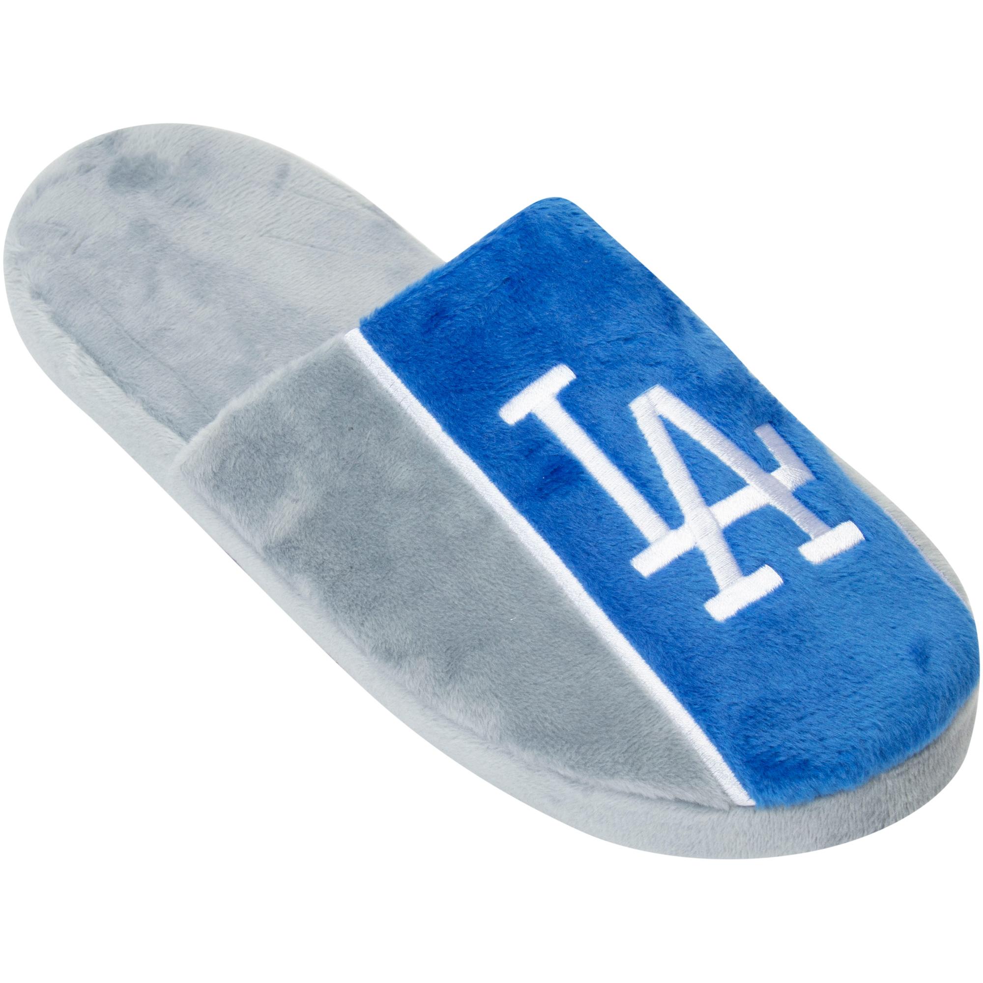 Los Angeles Dodgers Big Logo Stripe Slippers