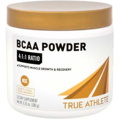 True Athlete BCAA 4:1:1  4gm LLeucine, 1gm LIsoleucine  1gm LValine per Serving Supports Muscle Growth  Recovery, 30 Servings  NSF Certified For Sport (6.35 Ounces