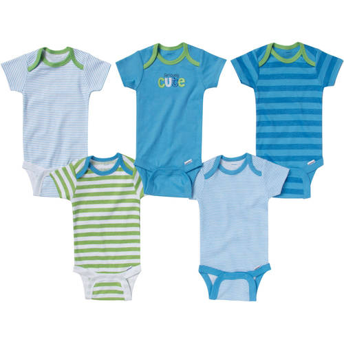 Gerber Onesies Brand Newborn Boy 5-Pack Assorted Short Sleeve One Piece Underwear