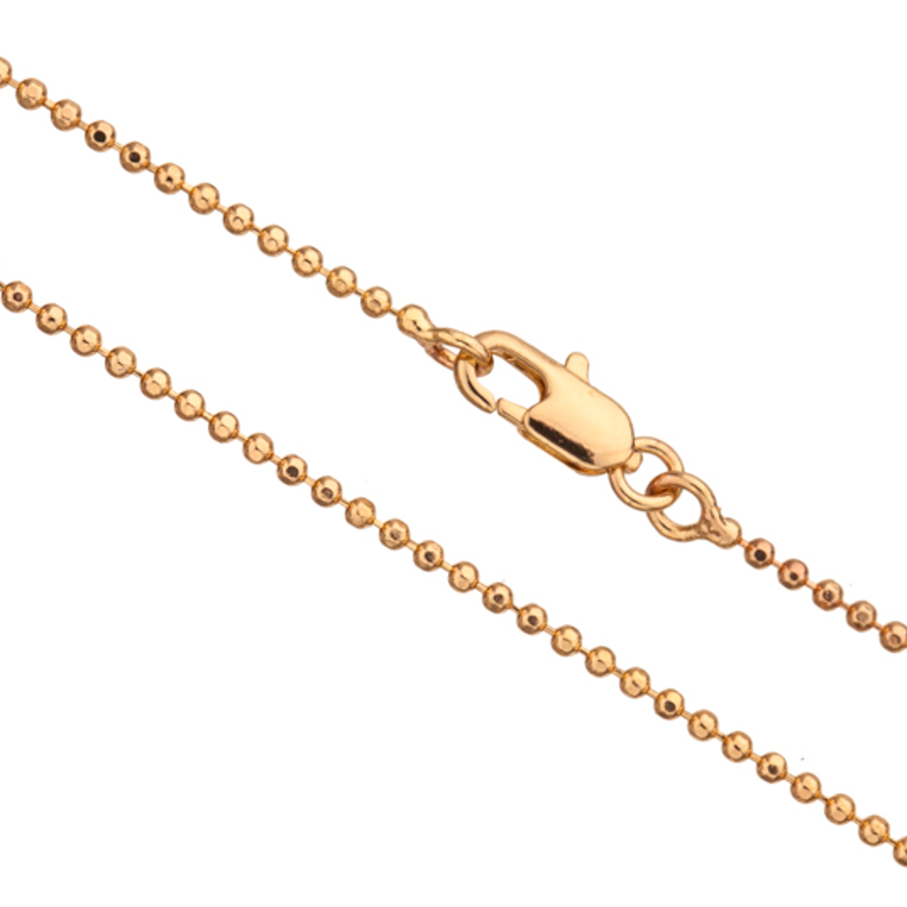 24Inch Necklace Gold Ball Chain, Gold Finished 1.5mm Ball With Lobster Claw Clasp 2Chain