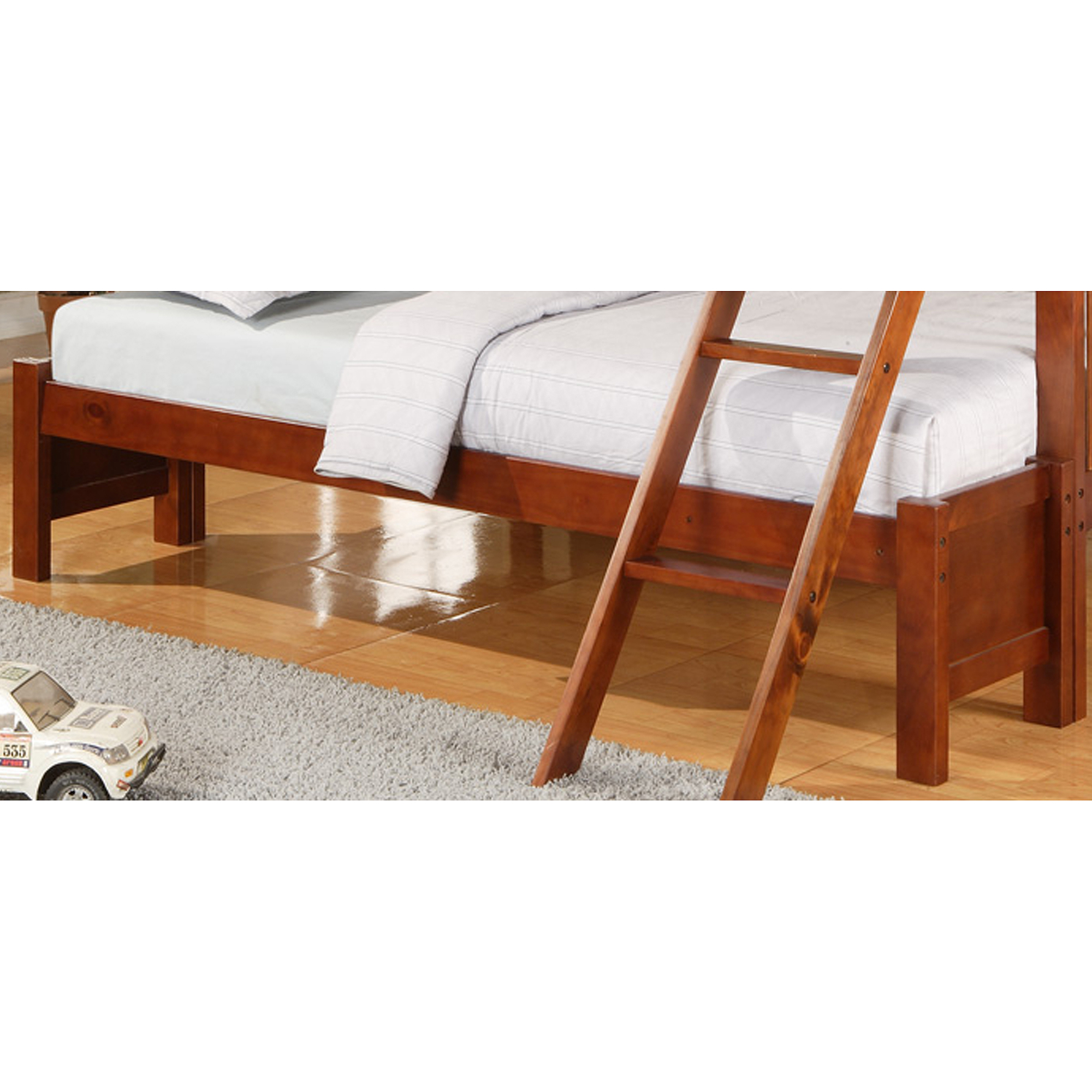 Elise Conversion Kit for Twin Over Full Bunk Bed, Mahogany by Top Line