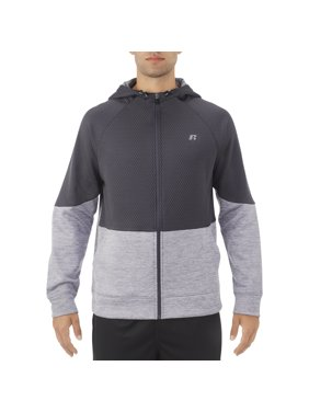 Russell Men's and Big Men's Colorblocked Full Zip Hoodie, up to Size 3XL