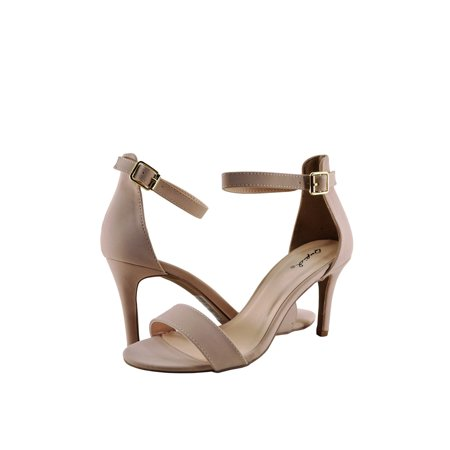 Dolly Ankle Strap Heels - Qupid Cullen 12 Women's Traditional Ankle Strap Heel