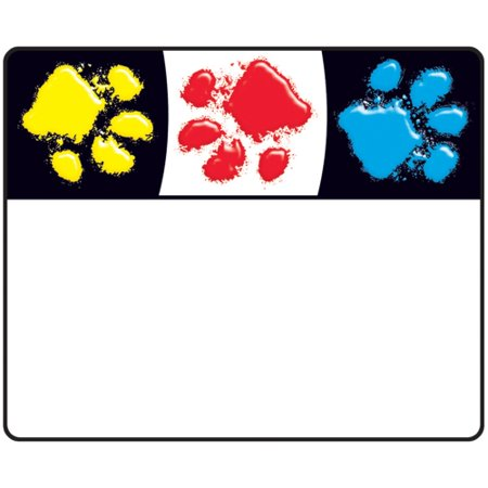 Trend Bright And Welcoming Paw Print Name Tags