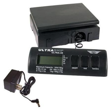 My Weigh Ultraship 35 LB Electronic Digital Shipping Scale Black with Ultraship Power