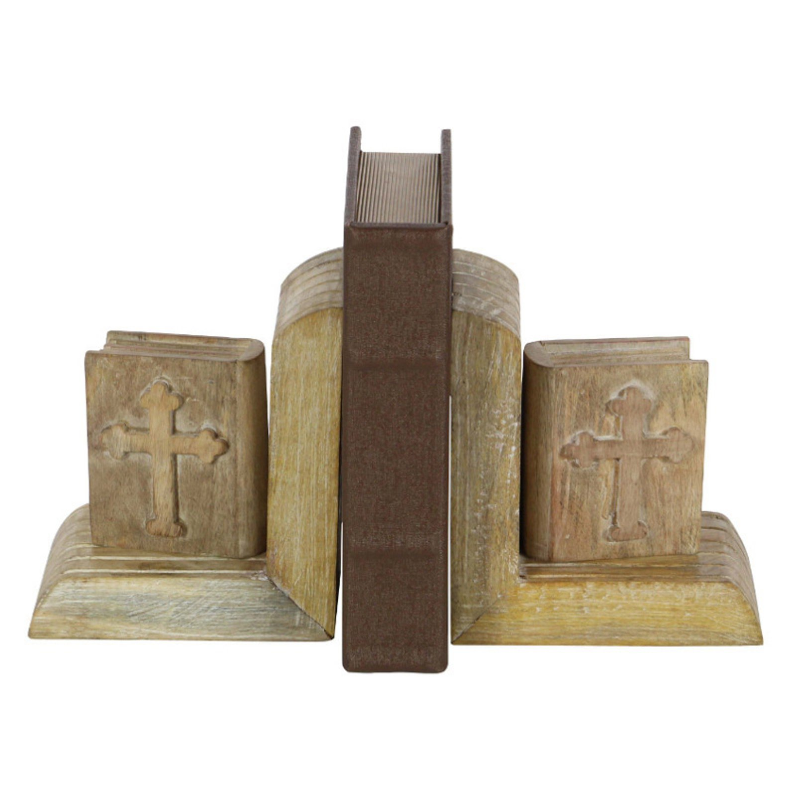 Bookend With Sculpted Book by Benzara