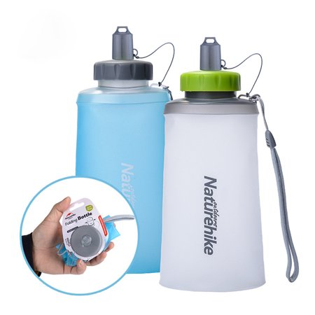 Creative Flexible Folding Bottle Portable Water Bag Soft Sport Kettle for Cycling Hiking Backpacking Color:White
