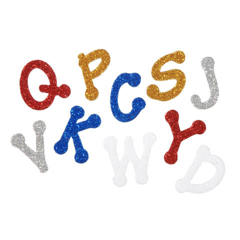 Foamies Glitter Dotted Alphabet Sticker Bucket: 1.05 oz