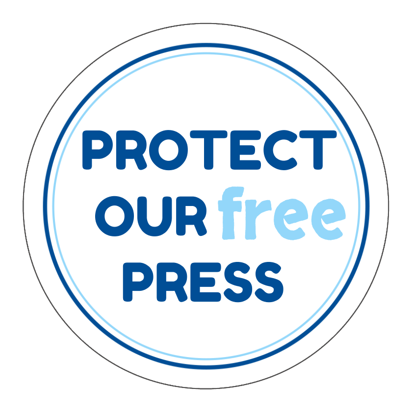 Circle Stickers - Protect Our Free Press - Set of 12