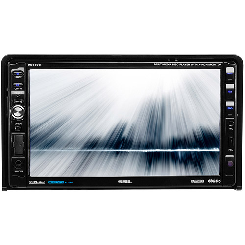 "SSL DD889B In-Dash Double-DIN DVD/CD/Bluetooth Receiver with 7"" LCD Screen"