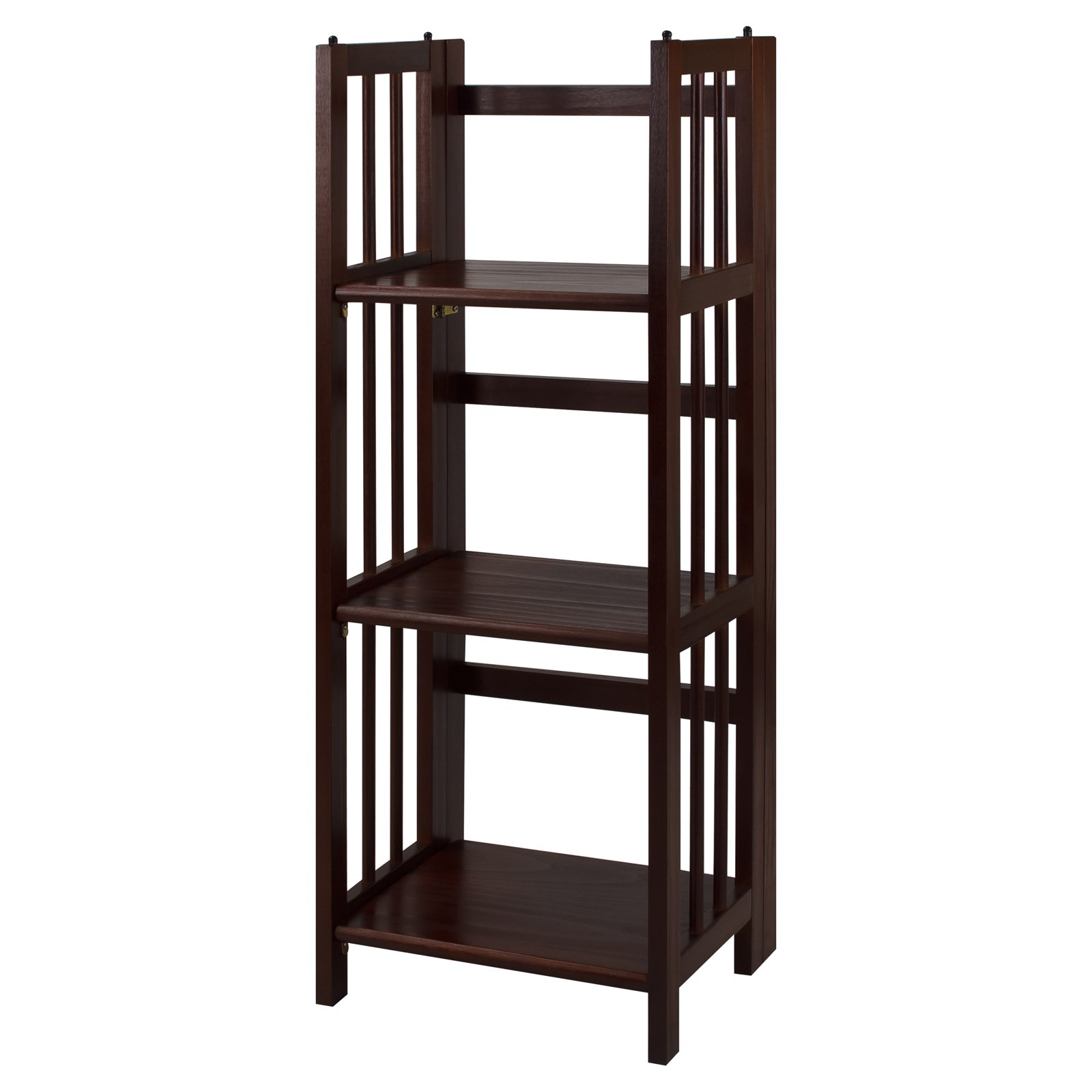 3-Shelf Folding Stackable Bookcase