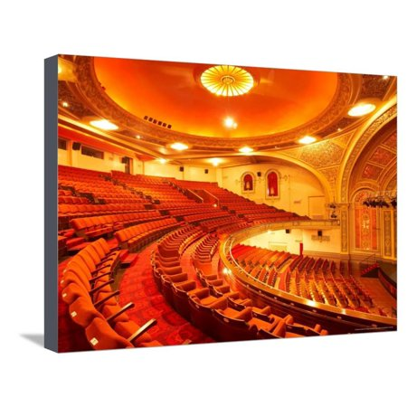 Interior of Regent Theatre, Dunedin, South Island, New Zealand Stretched Canvas Print Wall Art By David Wall