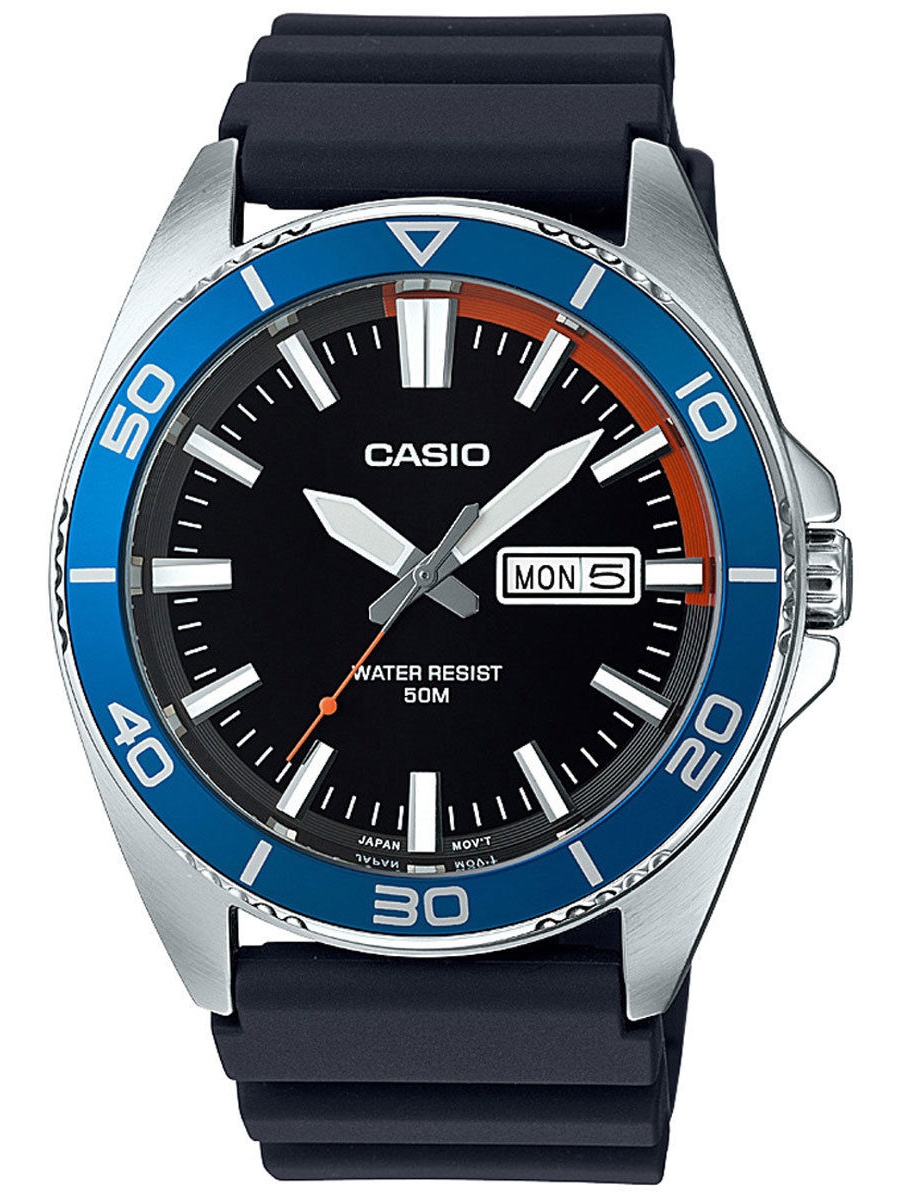 Men's Dive Style Watch, Black Day-Date Dial