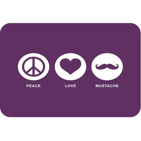 Rikki Knight Peace Love Mustache Purple Color Large Glass Cutting Board](Mutton Chop Mustache)