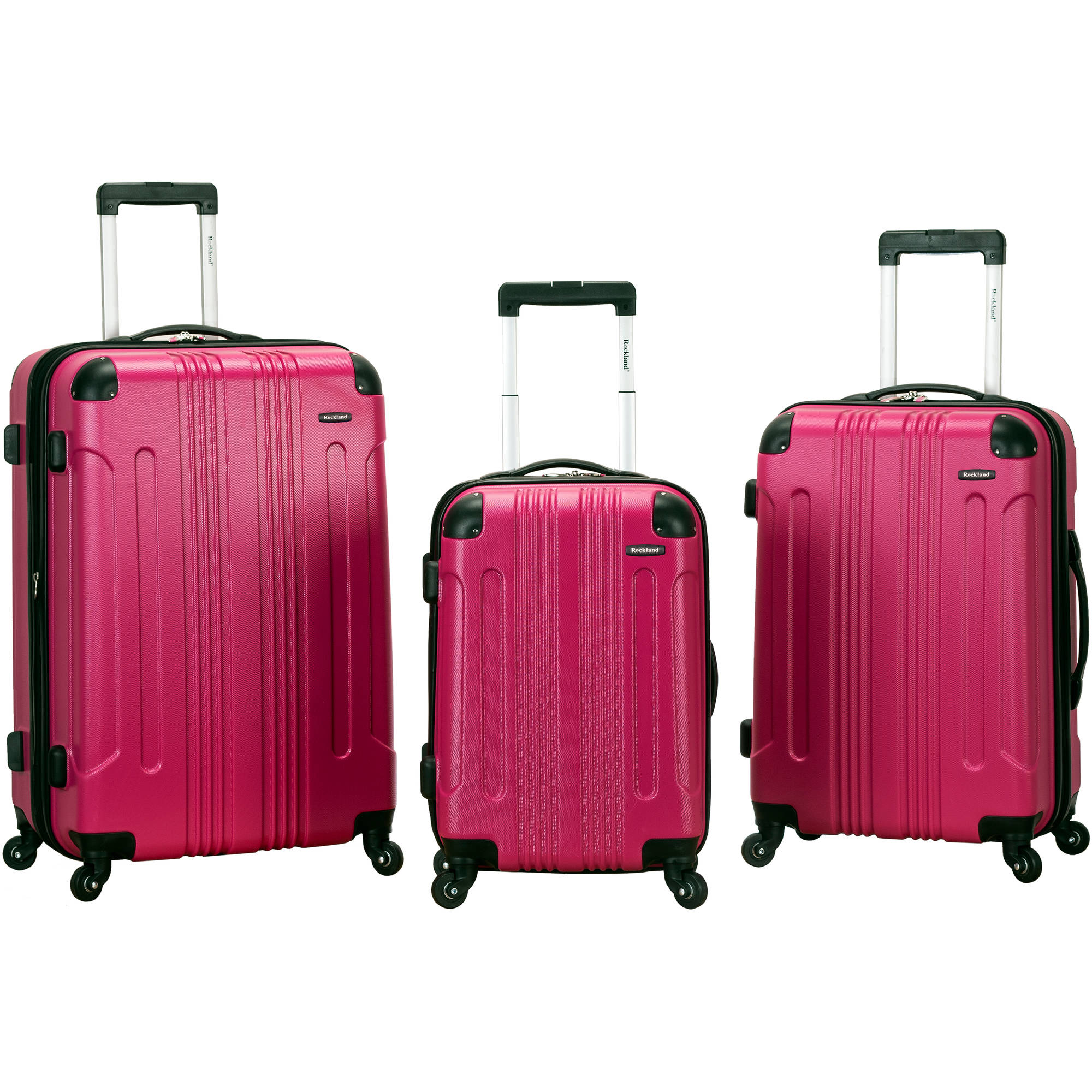 Rockland Luggage 3-Piece ABS Hard-Sided Spinning Luggage Set
