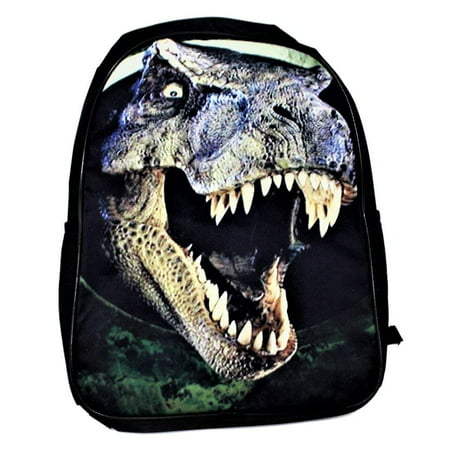 Jurassic Dinosaur T-Rex School Backpack 3D Print Boys' Kids' Travel Bag Adjustable Straps New