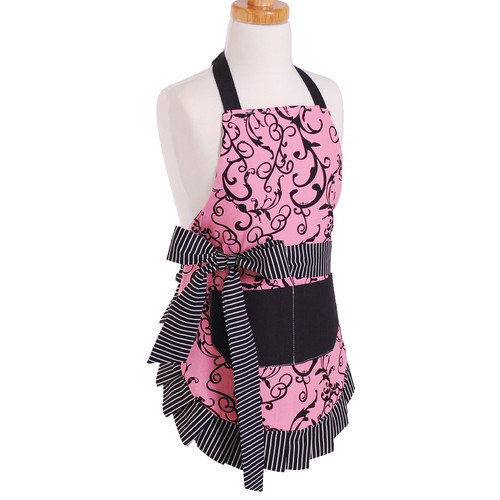 Flirty Aprons Girl's Apron in Chic Pink