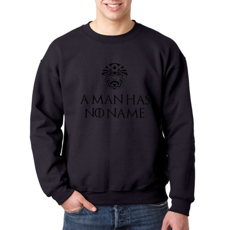 Trendy USA 689 - Crewneck A Man Has No Name Game Of Thrones Sweatshirt 2XL Navy