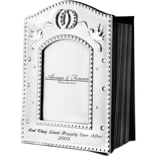 Personalized Gloria Duchin Engraved Silvertone Wedding Album