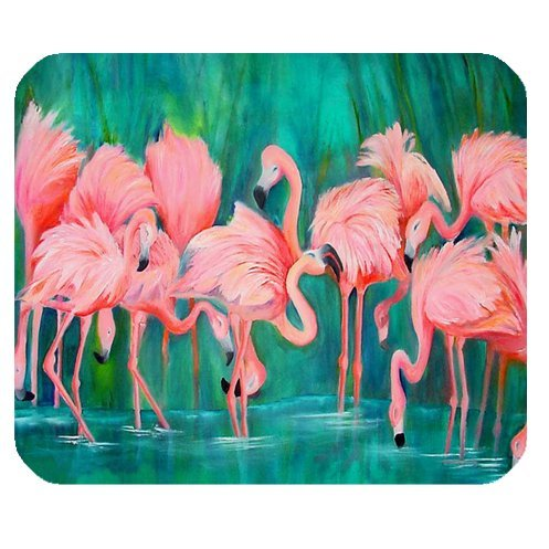 POPCreation Pink Flamingo Mouse pads Gaming Mouse Pad 9.84x7.87 inches