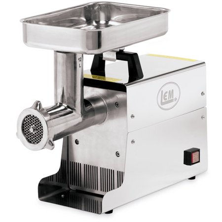 LEM Products Incorporated #12 Stainless Steel Electric Meat Grinder, .75 HP