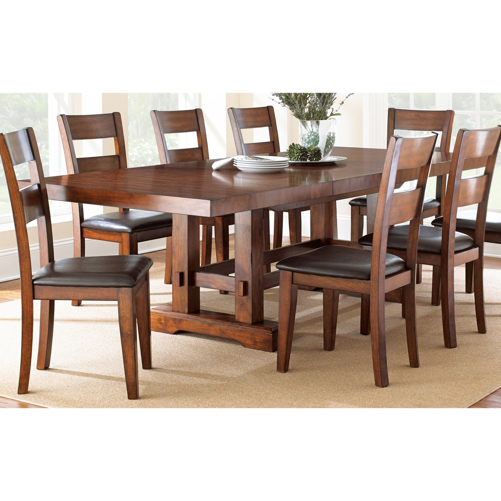 Steve Silver Zappa Dining Table - Medium Cherry