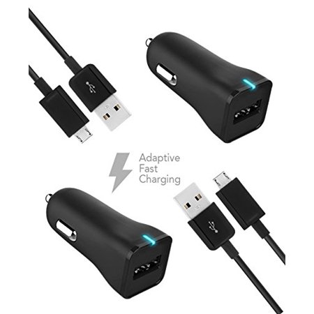 Htc Velocity 4G Vodafone Charger Micro Usb 2 0 Cable Kit By Truwire  2 Car Charger   2 Micro Usb Cable  True Digital Adaptive Fast Charging Uses Dual Voltages For Up To 50  Faster Charging