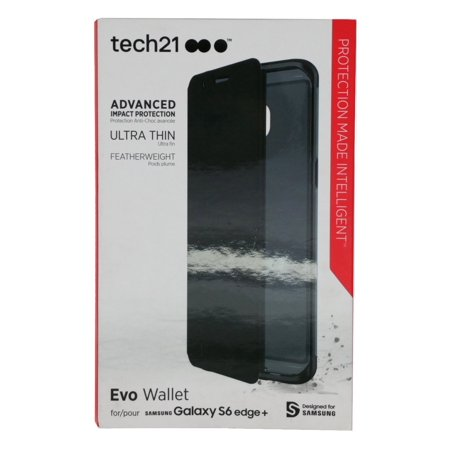 uk availability 5df93 d9d47 New in Box Tech21 Samsung Galaxy S6 Edge+ Plus Black Evo Wallet Flip ...
