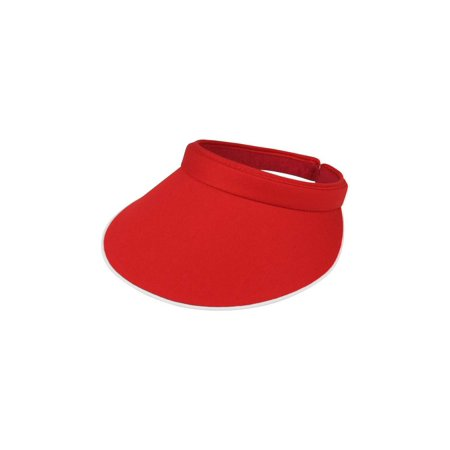 MG Women's Cotton Twill Clip-On Visor-4115 Cotton Twill Long Visor