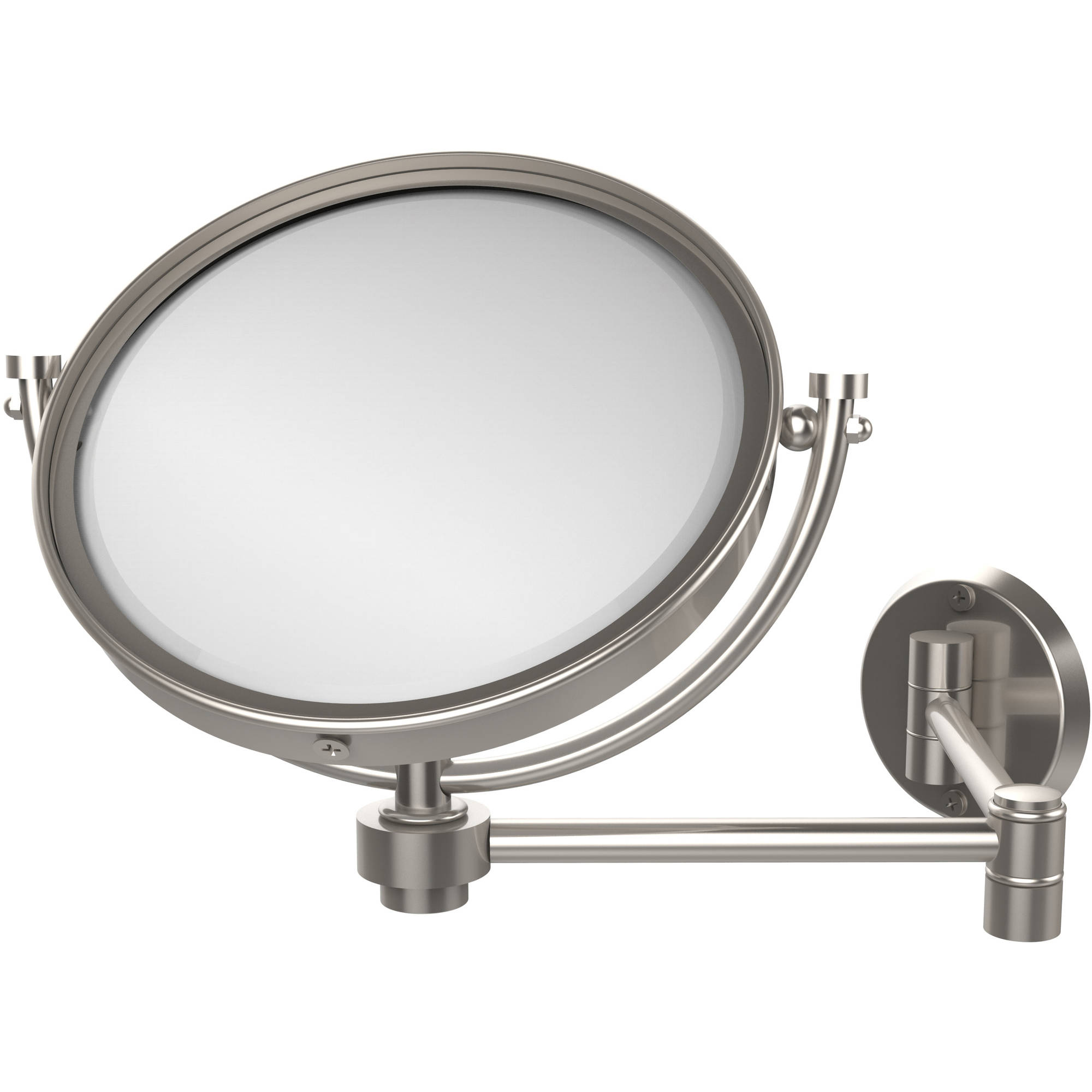 """8"""" Wall-Mounted Extending Make-Up Mirror, 2x Magnification"""