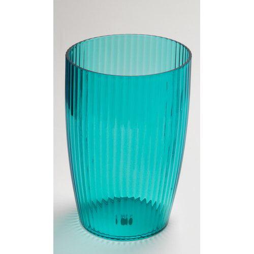 Cerulean Blue, Rib-Textured Waste Basket