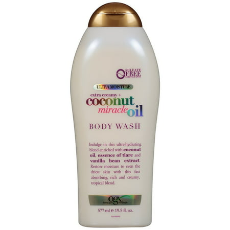 OGX Ultra Moisture Body Wash Extra Creamy + Coconut Miracle Oil, 19.5 fl
