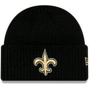 New Orleans Saints New Era NFL Core Classic Cuffed Knit Hat - Black - OSFA