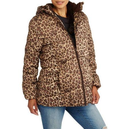 49d874d732ddf Faded Glory - Maternity Hooded Puffer Coat - Walmart.com