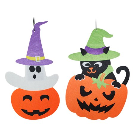 2PCS Halloween Hanging Tag Pumpkin Decoration for Home Door Window Bar Shopping Malls Company Party