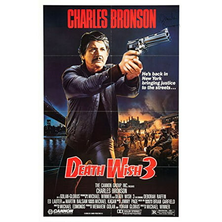 Death Wish 3  1985  Movie Poster 24X36 Inches Charles Bronson