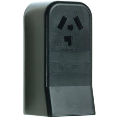 30a Three Pole (388CC6 30A 3 Pole 3 Wire Not Grounding Surface Mount Dryer Outlet, Black)