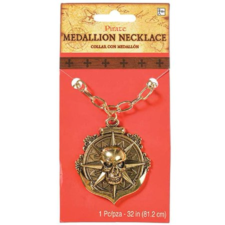 Caribbean Pirate Medallion Necklace](Pirate Necklace)